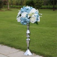WEFOUND large rose mix with lily flower head stand holder