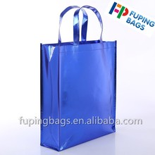 Laser film non woven bag promotional laminated shopping bag tote bag