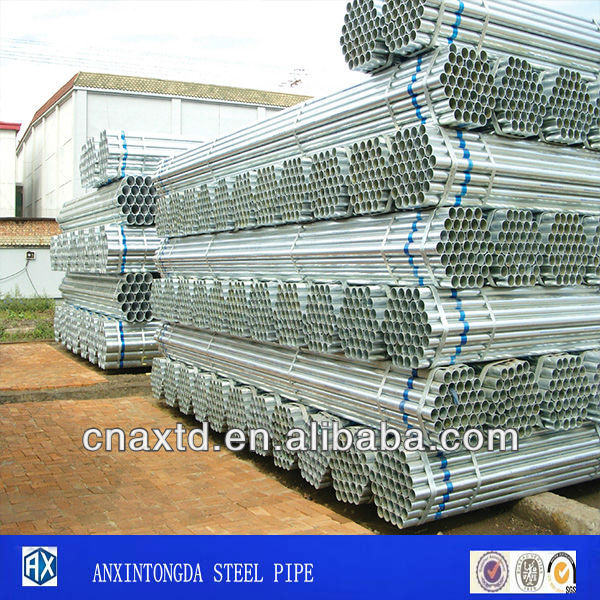 astm a120 schedule 40 galvanized round steel pipes from China