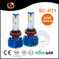 Factory high quality 30W cob led headlight bulb h11 with high canbus driver 6000K 8000K