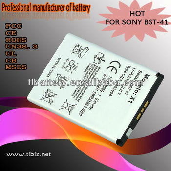 Cell phone battery Mobile phone battery BST-41 for SonyEricsson P1C P1i C11 P700 P700i