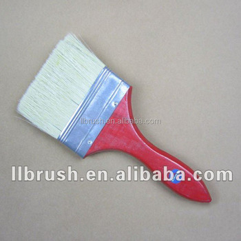 4'' Paint brush of wooden handle dyed red color