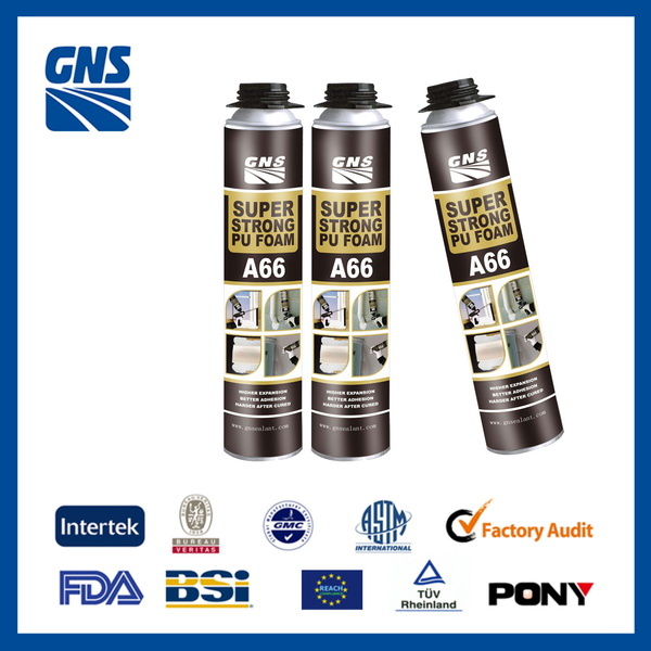 aerosol rigid 750ml foam adhesive pu foam