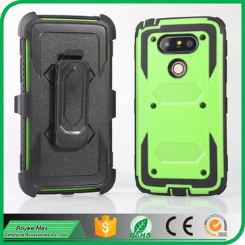 NEW Mobile Phone Protective Cover with Belt Clip Holster Kickstand Case for LG G5 Accessory