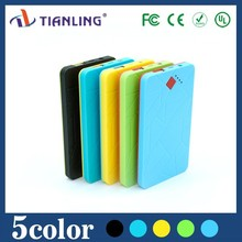 New style best selling slim power bank with cable