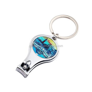 Wholesale Gifts Multifunctional Keychain Beer Bottle Opener Stainless Steel Nail Cutter Set with Custom Logo