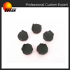 black EPDM customized small molded rubber parts, rubber foot caps, motorcycle rubber parts