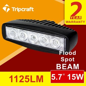 Factory Directly! Black Car AUTO Parts 5.7inch portable 10-30v super bright waterproof 15w led work light
