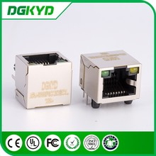 China Supplier KRJ-56S8P8C1X1GYNL Metal Shielded 8 pin RJ45 connector without transformer