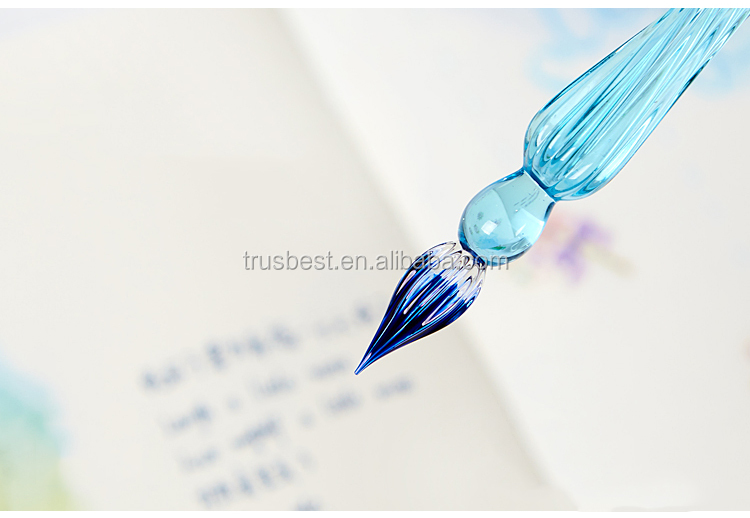 2017 Crystal Glass Dip Pen calligraphy Pen Fountain Pens Bussiness Offices School Stationery
