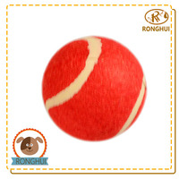 rubber wool zanies toys for dog tennis ball