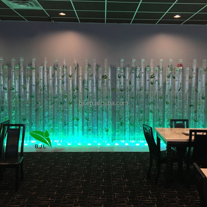 CE&UL approved illuminated acrylic glowing bamboo tube wall led bar furniture
