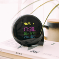 Digital Weather Station Alarm Clock with Forecast Barometer Temperature Humidity Wireless Indoor
