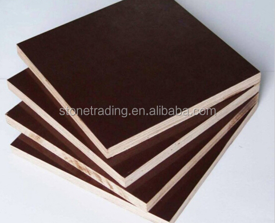Building Templates 18mm Construction Plywood poplar and brown film faced can used as Building Materials