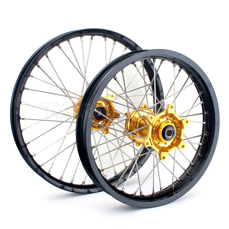 21 18 Inch EXC SX SXF 125 250 450 Dirt Bike Wheels Set for KTM