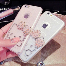 With Diamond Hello Kitty Phone Cases For iphone 6