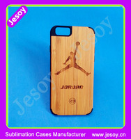 JESOY For Apple i Phone 5 6 Handmade Bamboo Wood Protector Hard Case Wooden Back Phone Cover