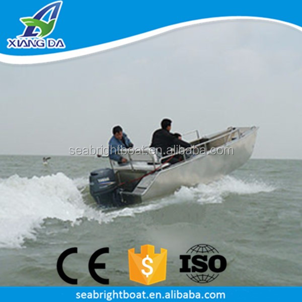 14' Foot Monohull All Welded Aluminum Work Boat Space Marine Landing Craft
