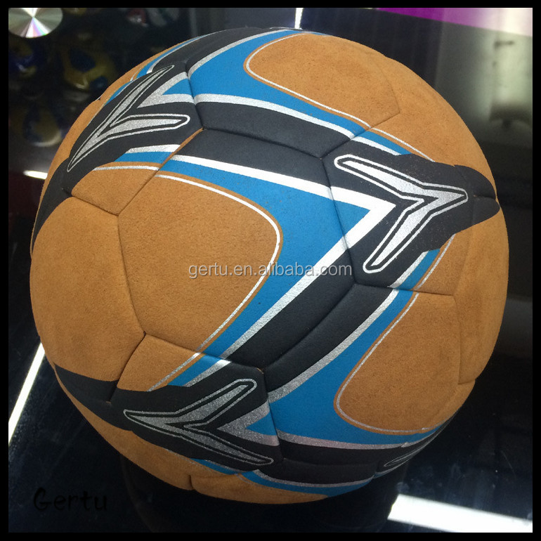 size 5 laminated vintage leather football