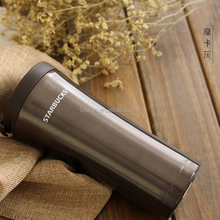 new leak-proof stainless steel starbucks coffee mug doouble wall vacuum car mug for promotion gifts