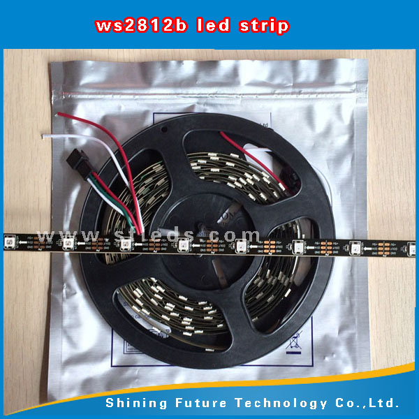 ws2812b 144 led pixel strip IC WS2811 WS2812B SMD 5050 RGB Magic Digital Dream led lights changeable color 30/60/144LEDS