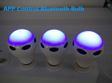 direct buy china 4w RGB bluetooth led bulb, phone app music speaker led bulb with e26 e27 b22 base
