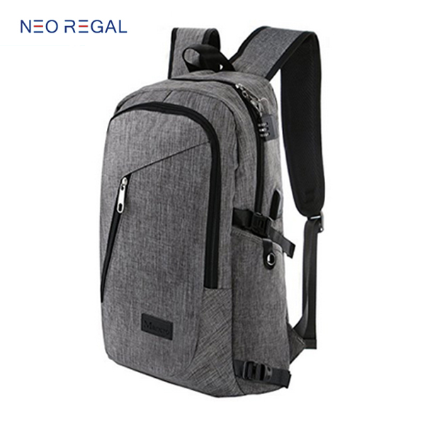 USB Charging Port and Lock Fits Under Business Laptop Backpack