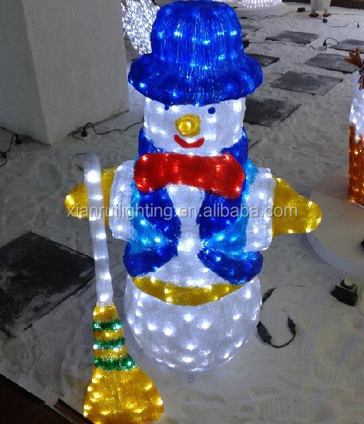 3d light up christmas outdoor decorations santa snowman for 3 d lighted christmas pig holiday outdoor decoration
