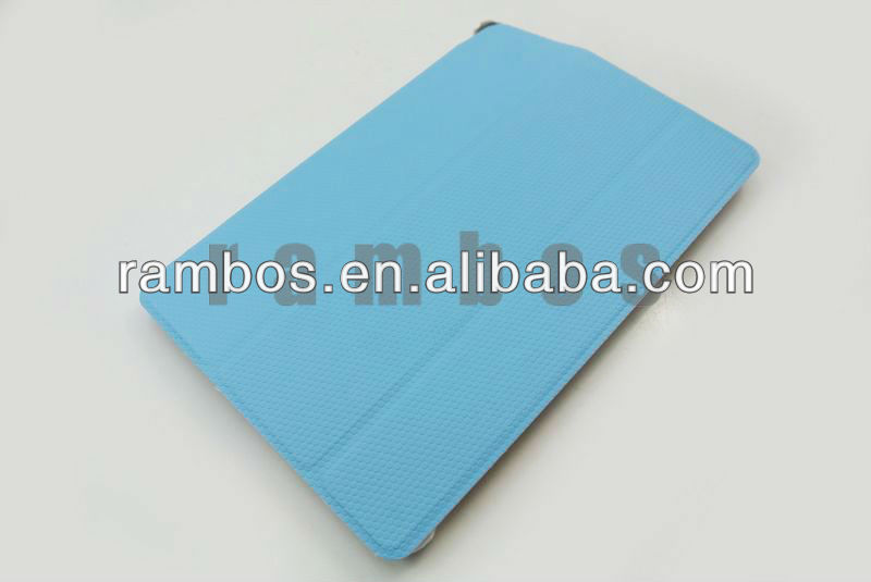 Football grain leather skin tablet folding cover case for iPad mini