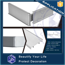 Decorative baseboard moulding waterproof aluminum skirting board