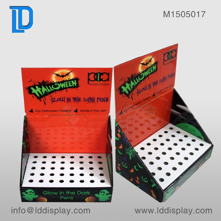 Store Promotional Pen Table Top Display Racks , Custom Cardboard Display for Pen Retails
