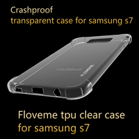 2016 new arrival alibaba clear soft strong crashproof shockproof Floveme tpu case bumper cover for samsung s7/s7 edge