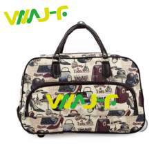 210D Lining custom multi-function trolley travel bag carry on trolley travel bag