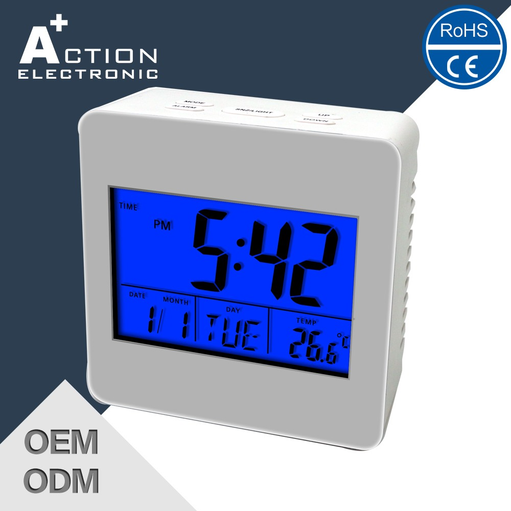 2016 New Cheap Digital wake up light Alarm LCD Clock Table for Sale