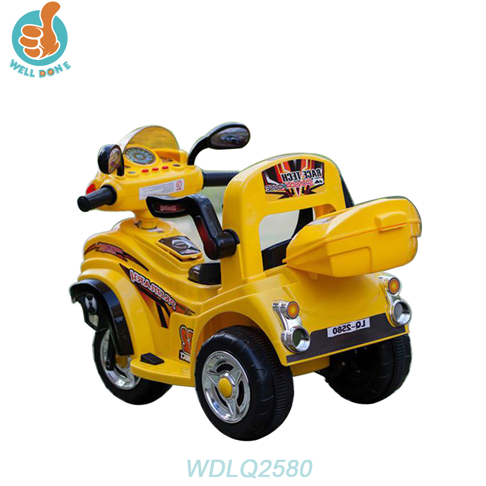 WDLQ2580 Three Wheels Electric Kids Motor Bike/New Pp Baby Tricycle With Bottle Metal Plane Toy