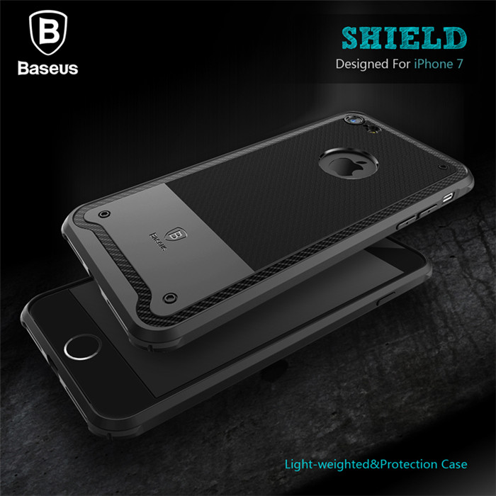 Armour Case For iPhone 7/7 Plus,Original Baseus Shield Series TPU Back Case Protective Cover For iPhone 7/7 Plus PB-140