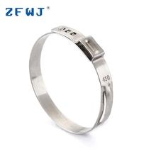 Promotional stainless steel single ear wire hose clamp