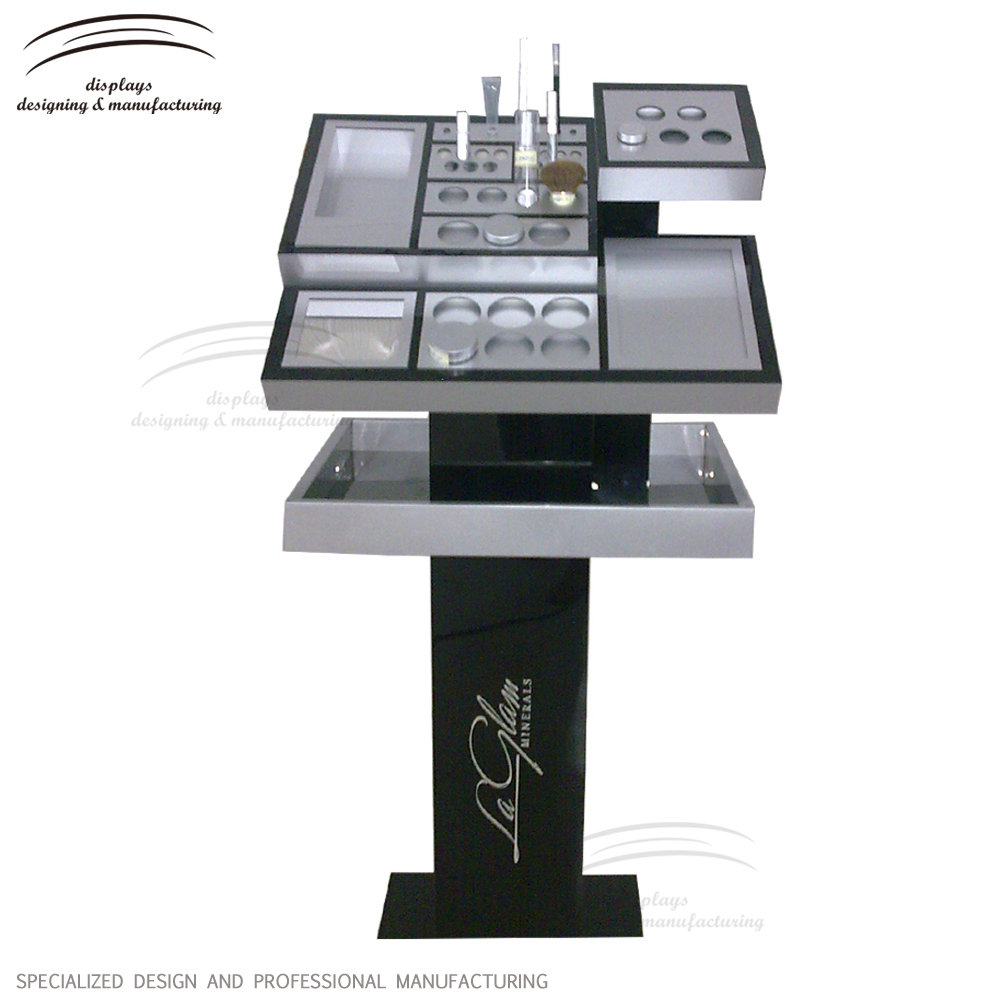 Acrylic furnitures for cosmetic display shelves