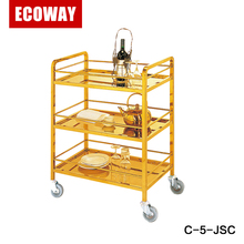 Hotel Wine Trolley Liquor Cart metal juice and tea trolley cart
