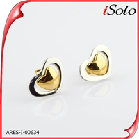 shopping online korea new model 2013 telesthesia gold beautiful designed earrings