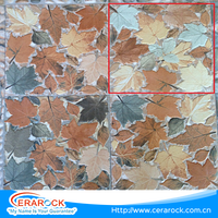 Attractive colorful leaf style ceramic digital printing tiles flooring 300x300mm cheap tiles for floor use