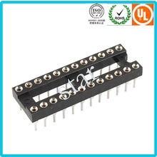 China Factory Manufacture 2.54mm Pin Header 24 Pin Ic Socket Adapter
