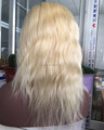 High quality 9A soft European human hair 10inch blonde #613 natural straight wavy full lace wig,short lace front wig for women