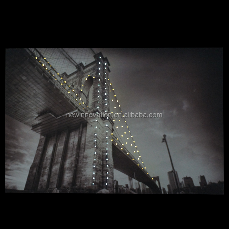 China product led canvas picture with led light for home