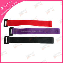Free sample plastic buckle hook and loop strap