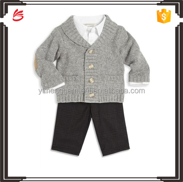Sweater/shirt/pants matching clothing sets suit boys clothing sets