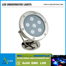 YJS-0001 IP68 PF0.9 RGB high power 12W round underwater LED pool lights