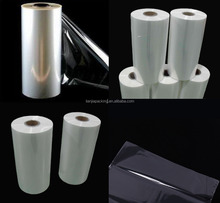 China supplier Antistatic Polyolefin Heat Shrink Film as soft transparent plastic film roll for wrap packing