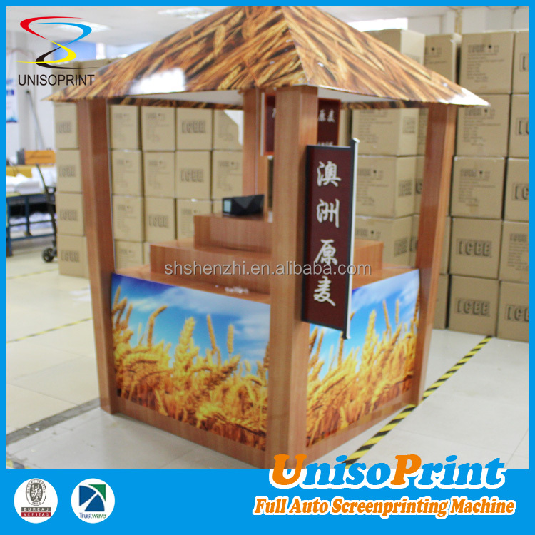 Wholesale pp plastic merchandising assemble exhibition display table