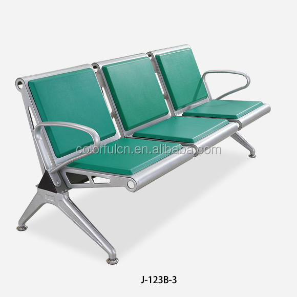 New design moulded PU long lasting waiting room sofa modern J-123B-3